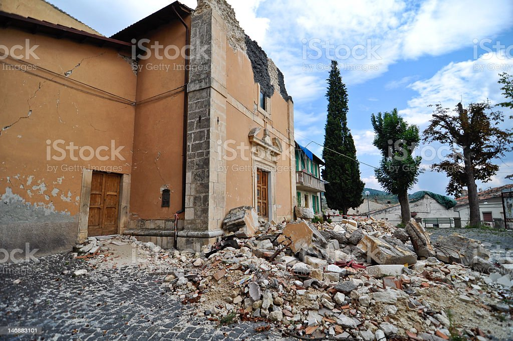 Destroyed Church royalty-free stock photo