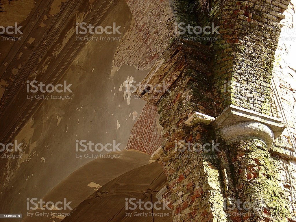 Destroyed Church stock photo