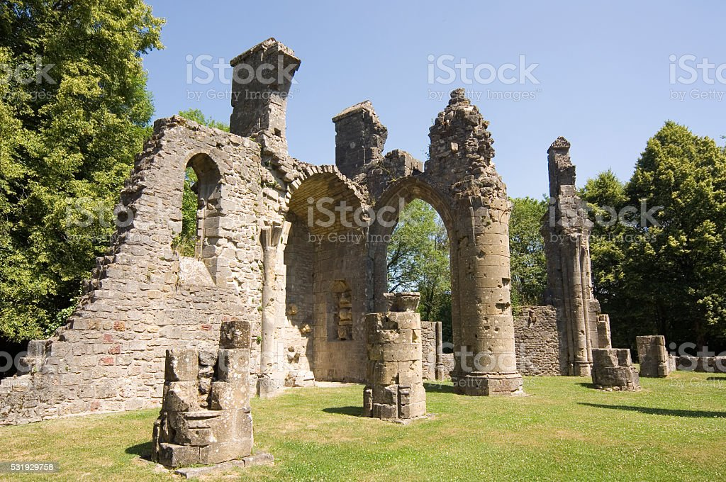 Zniszczone Kościół, wojny światowej 1 w pobliżu Verdun – zdjęcie
