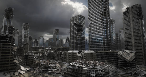 Destroyed Cityscape stock photo
