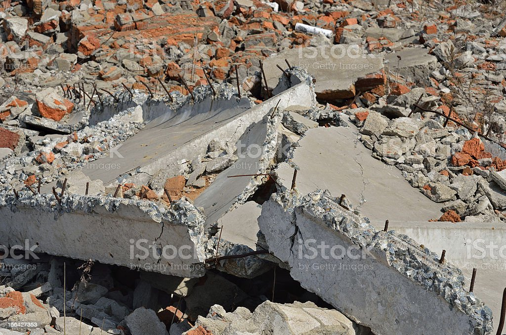 Destroyed concrete royalty-free stock photo