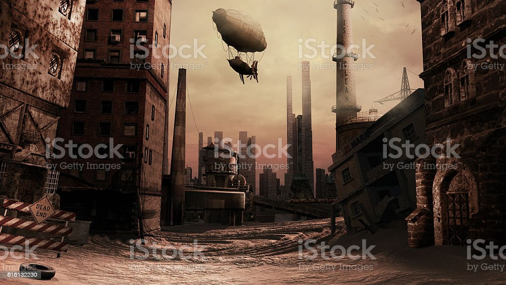 Destroyed factory stock photo