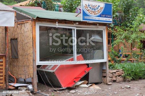 1164292968 istock photo Destroyed Fast Food Restaurant 458644989
