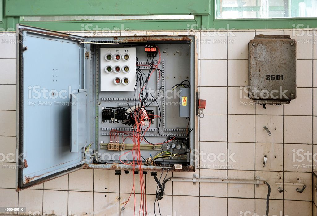 destroyed fuse box stock photo istock rh istockphoto com Electrical Panel Knob and Tube Wiring