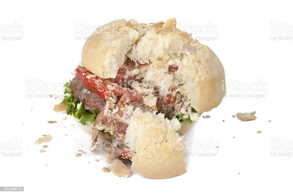 destroyed hamburger stock photo