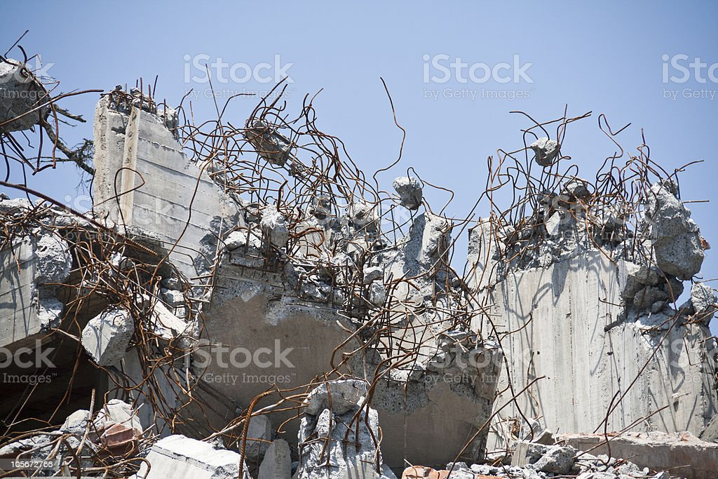 Destroyed home royalty-free stock photo