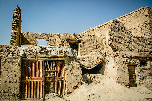 Destroyed houses Houses destroyd in bombing in Deh Bori area, Kabul. The destruction dates from the Mujahideen conflict. Afghanistan stock pictures, royalty-free photos & images