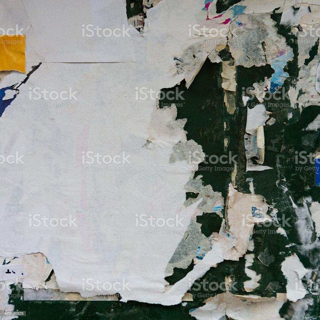 destroyed poster stock photo