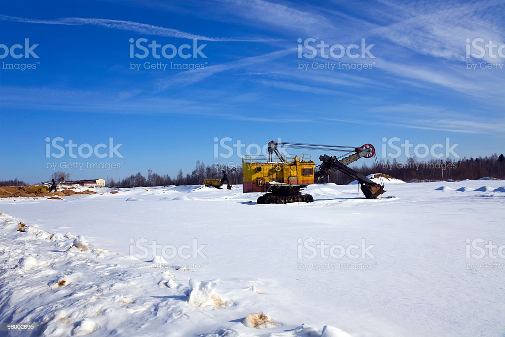 destroyed tractor royalty-free stock photo