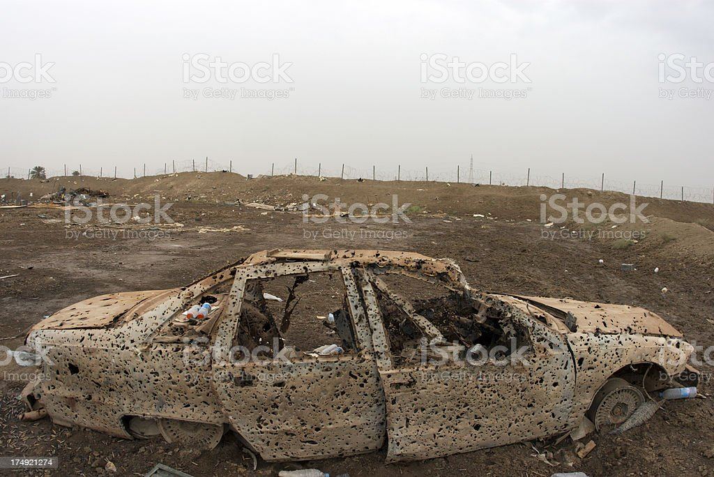 Destroyed Vehicle royalty-free stock photo