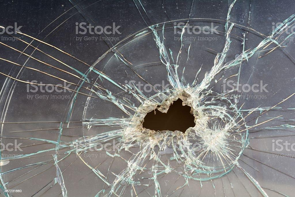 destroyed window stock photo
