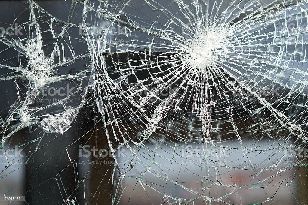 destroyed window stock photo