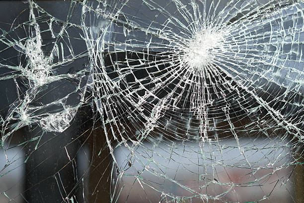 destroyed window destroyed window of a railway carriage  riot stock pictures, royalty-free photos & images