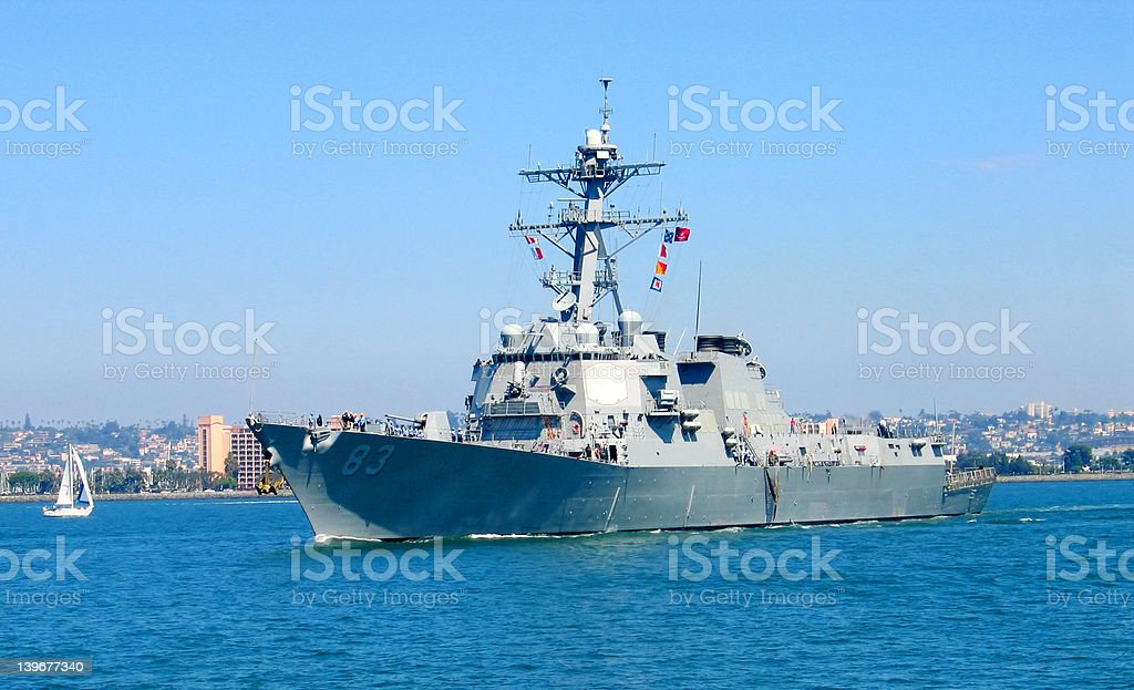 destroyer stock photo