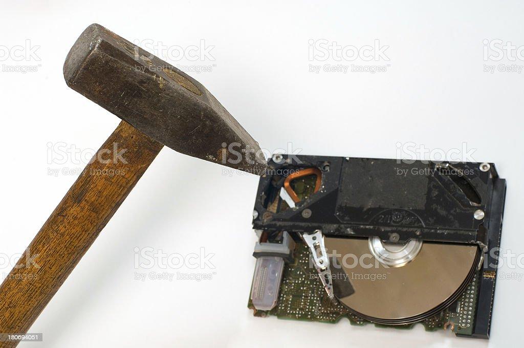 destroying data royalty-free stock photo
