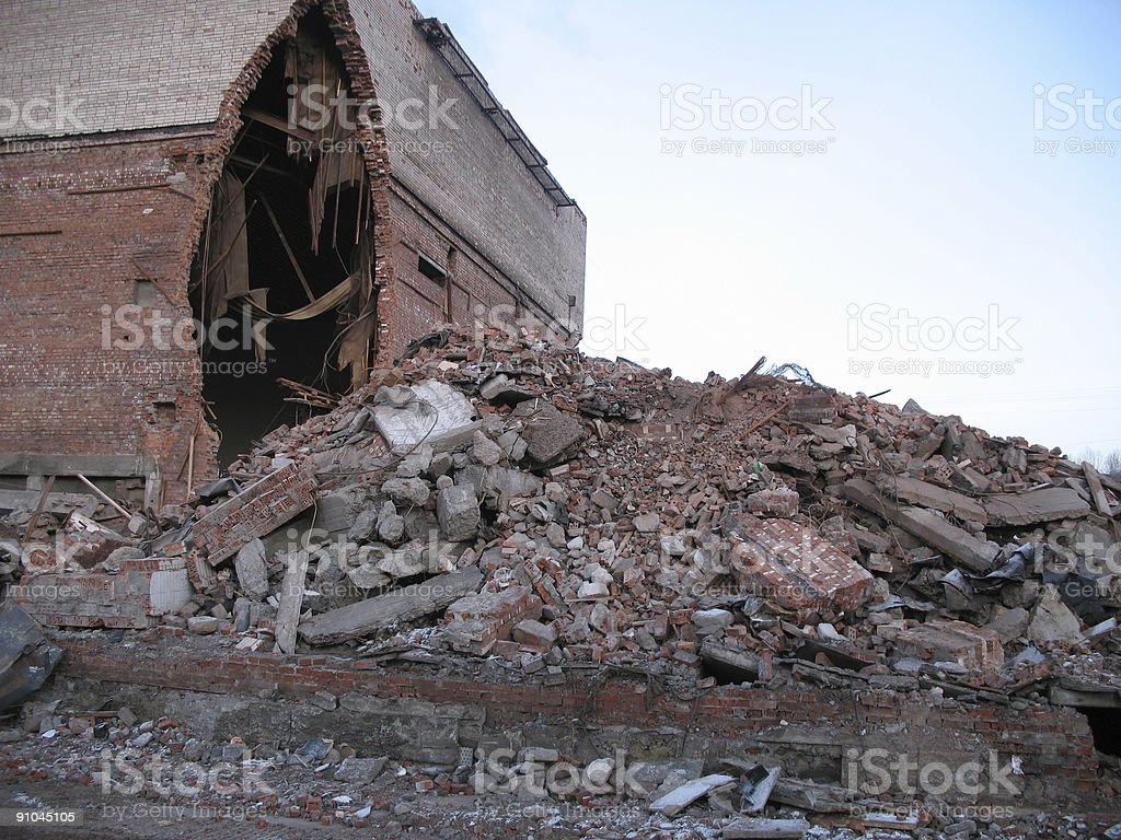 destruction building royalty-free stock photo