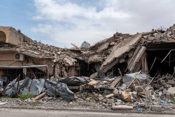 Zerstörung der christlichen Stadt Qaraqosh, Irak – Foto