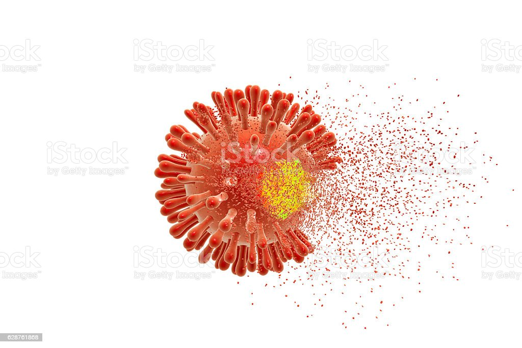 Destruction of Human Immunodeficiency Virus stock photo
