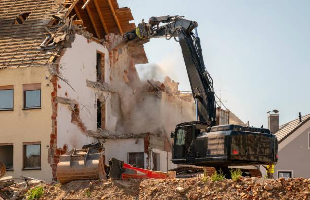 Zerstörung von Wohnhaus – Foto