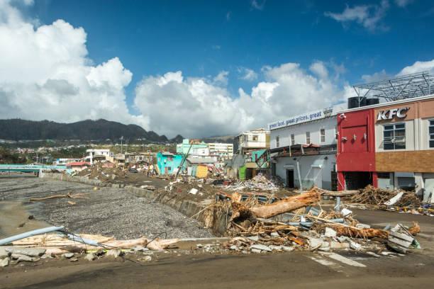 Zerstörung von Roseau nach Hurrikan Maria, in Dominica 2017 – Foto