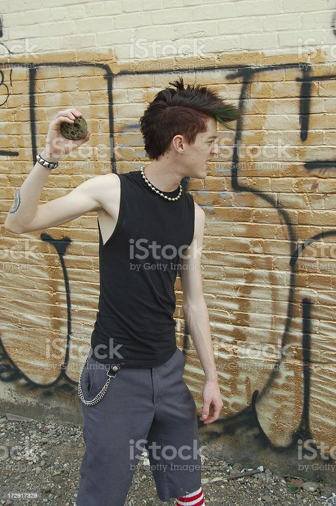 Destructive Punk royalty-free stock photo