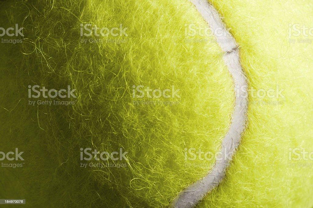 Détail de la texture et des balles de tennis jaune et en marquant - Photo