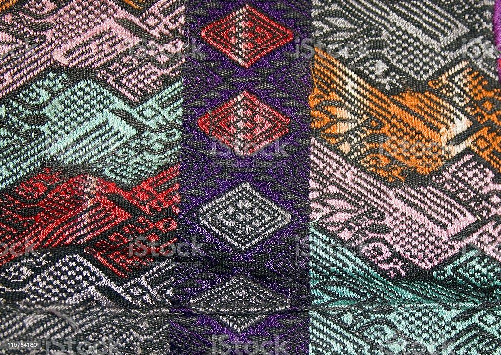 Detail Backstrap woven huipil Guatemala stock photo