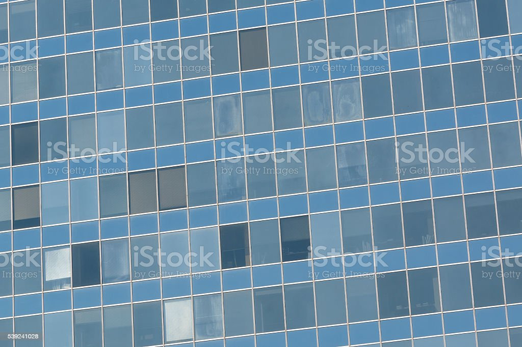 Detail bottom view of glass skyscraper royalty-free stock photo