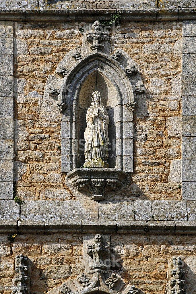 Detalle de la iglesia Auray en Francia - foto de stock