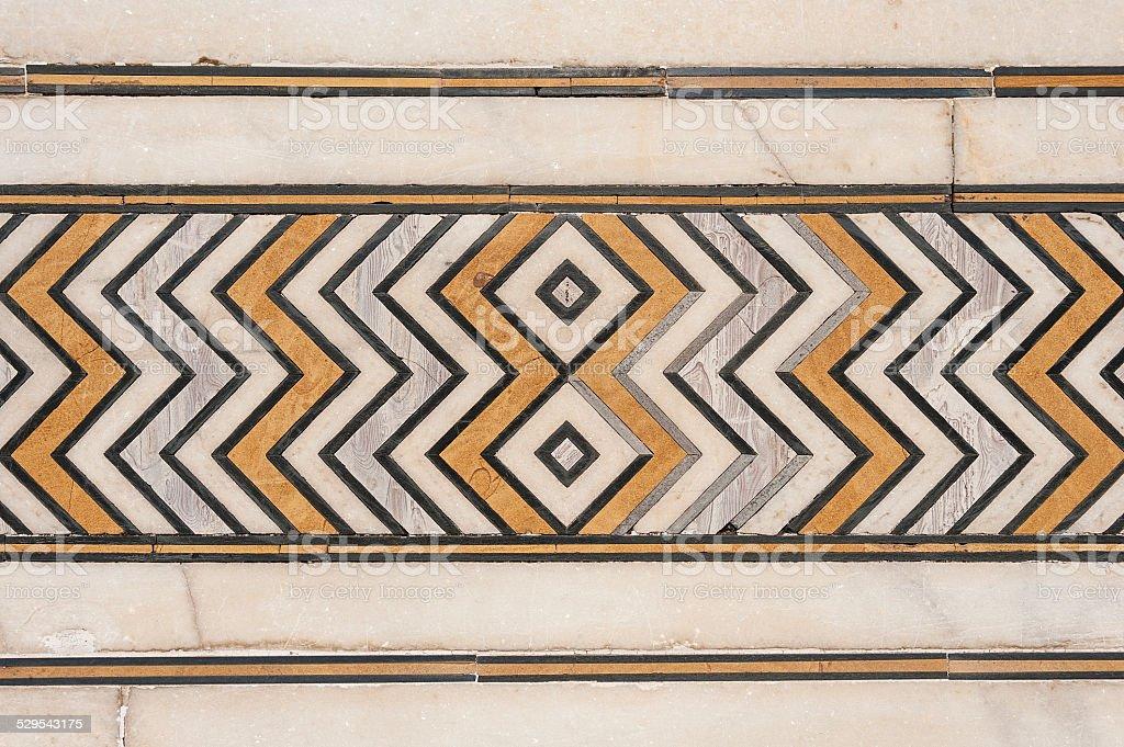 detail decorative of taj mahal, India stock photo