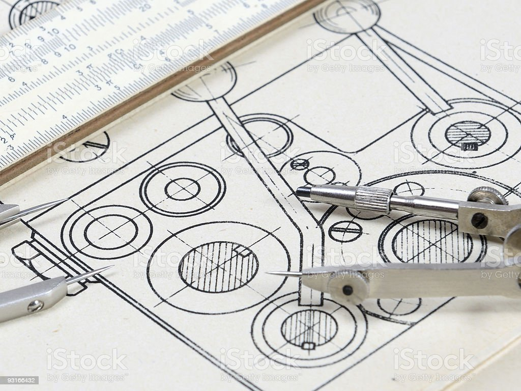 Detail drawing royalty-free stock photo