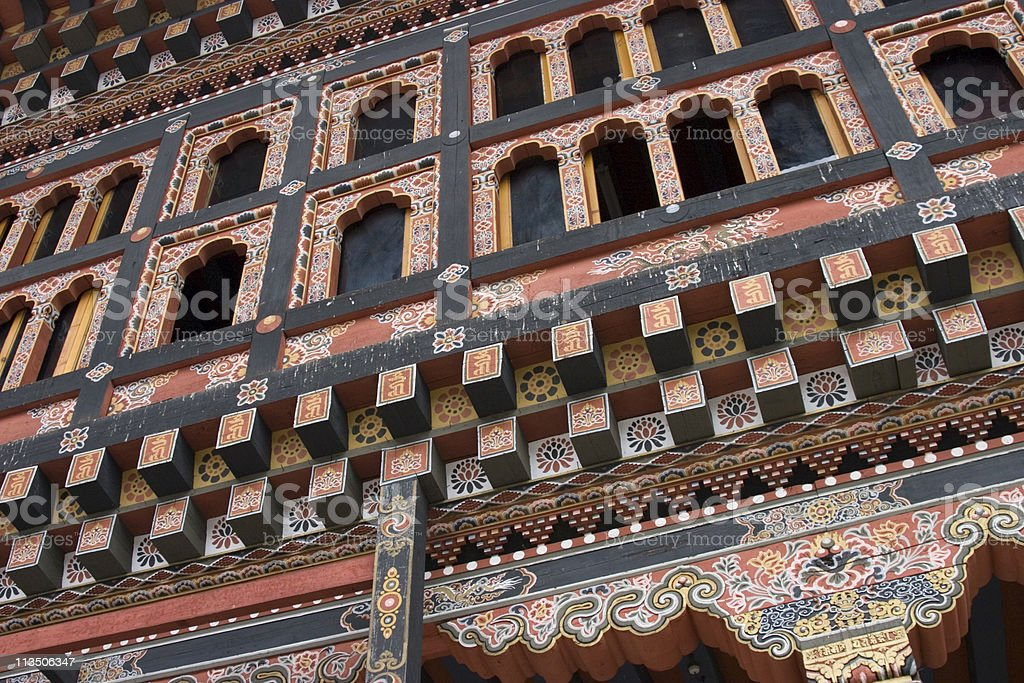 Detail Dzong stock photo