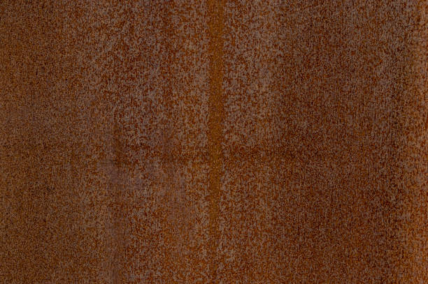 detail facade of rusted corten steel with different patterns, textures and structures - enferrujado imagens e fotografias de stock