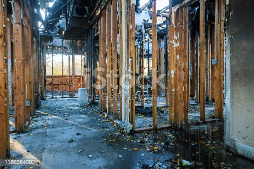 1015604978 istock photo Detail from a home after a large fire house 1186364092