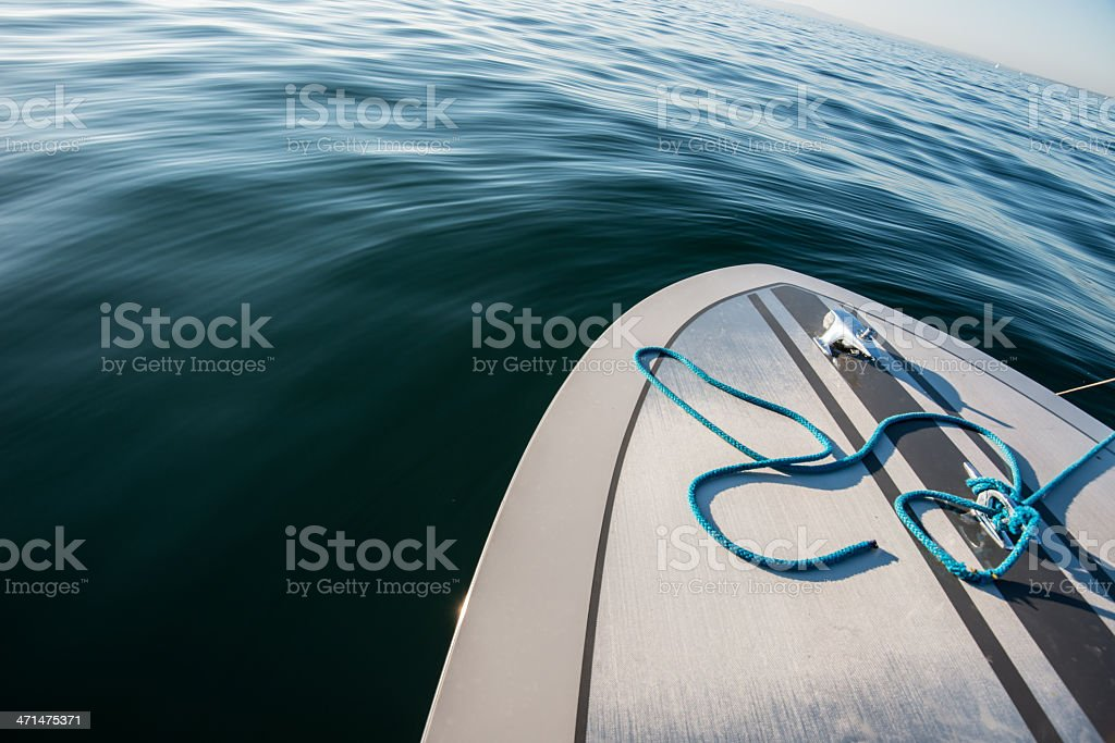 detail from a speedboat bow stock photo
