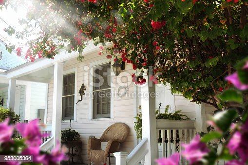 an image of a wooden house entrance