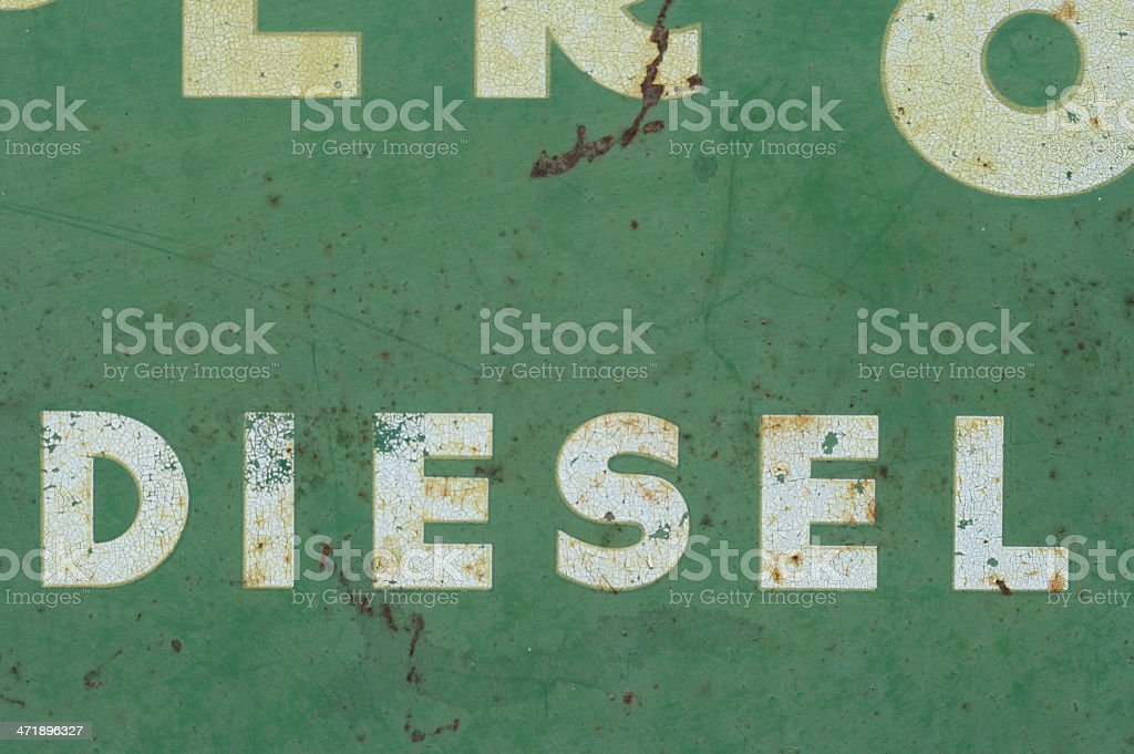 Detail from an old sign stock photo