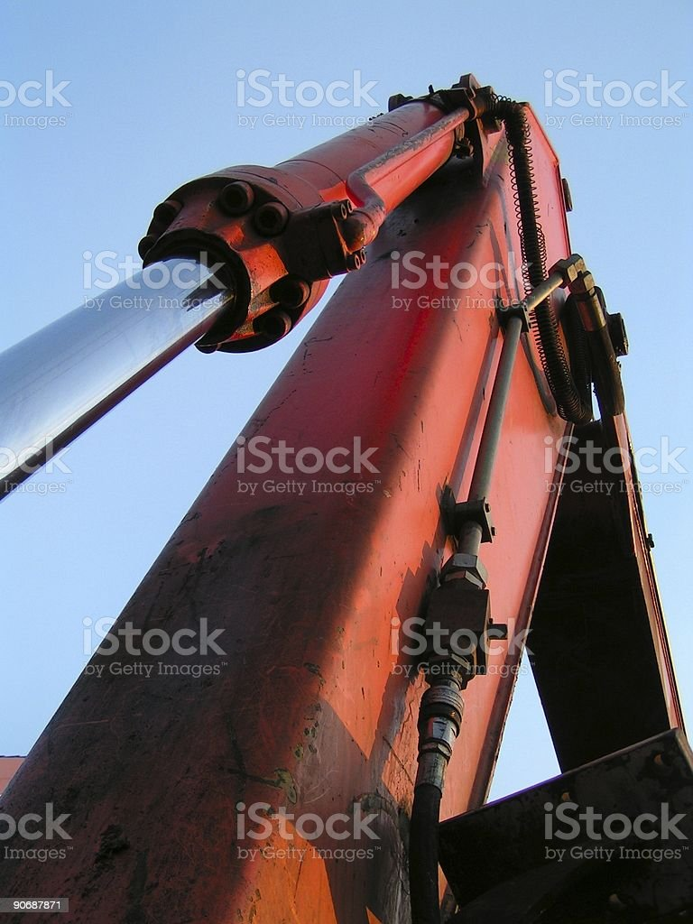 Detail from excavator royalty-free stock photo