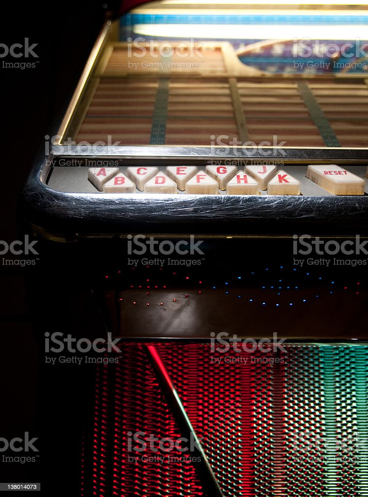 detail from jukebox stock photo