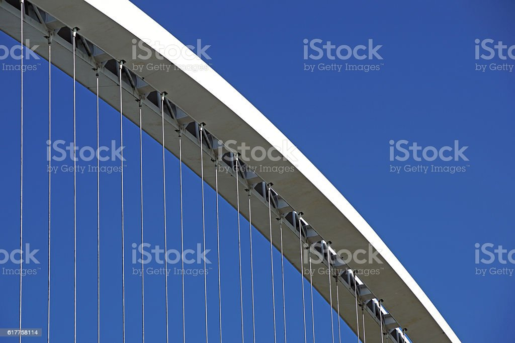 Detail from modern bridge stock photo