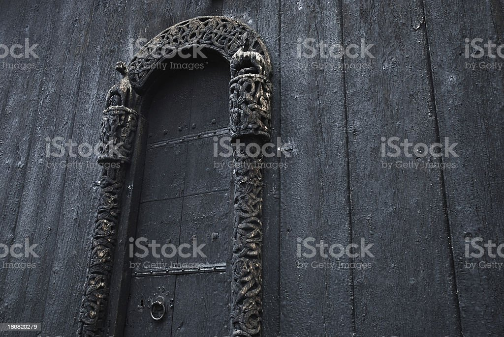 Detail from old church royalty-free stock photo