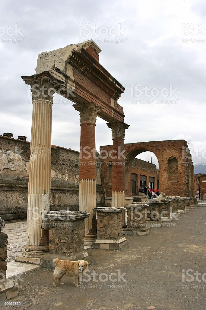 Detail from Pompei stock photo