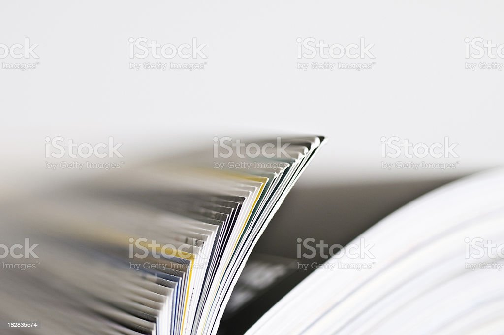 detail from rolled magazine royalty-free stock photo