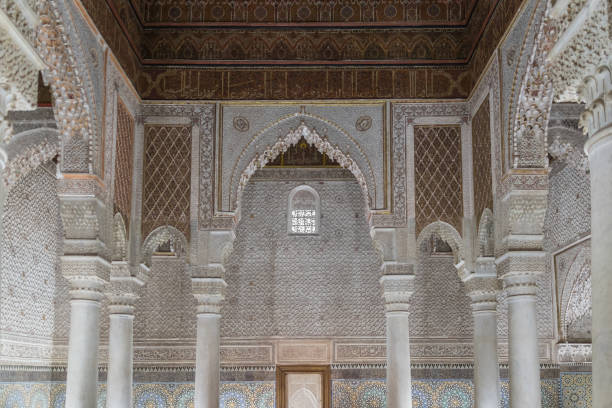 Detail from Saadian Tombs in Marrakesh stock photo