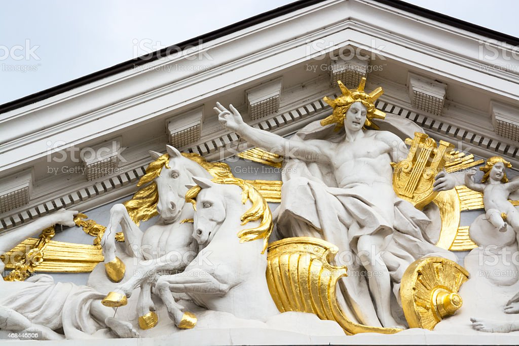 Detail from the National Theatre, Sofia, Bulgaria stock photo