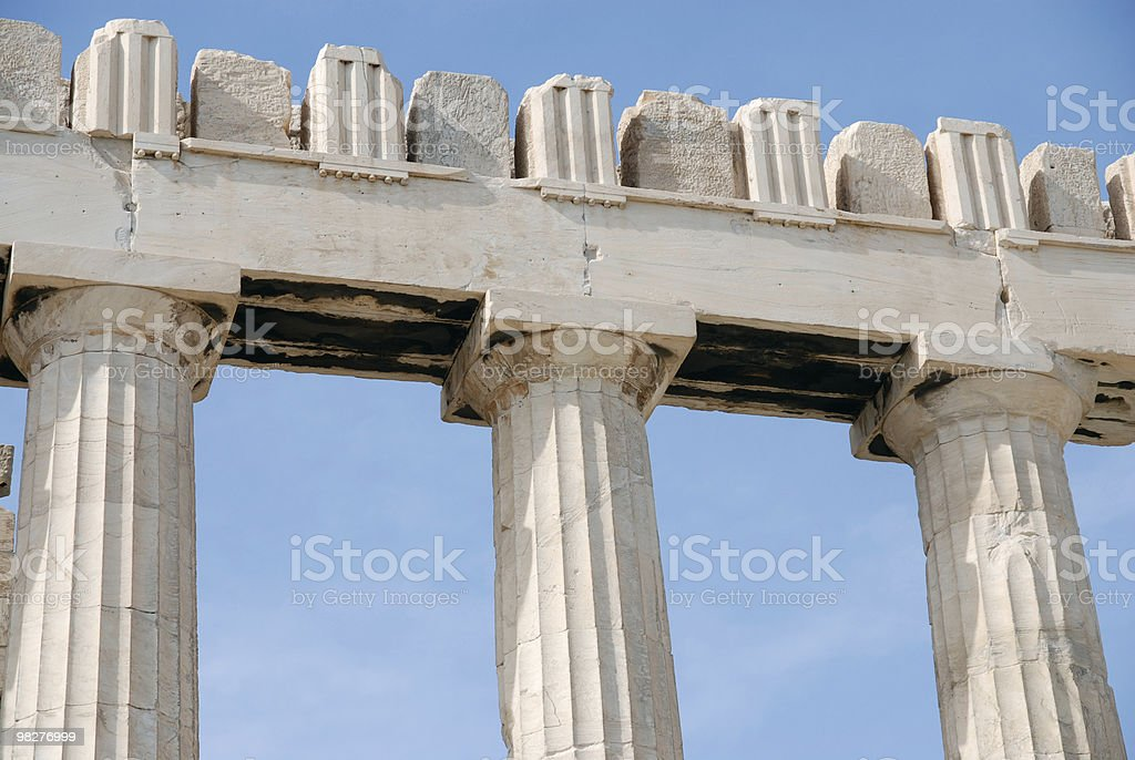 Detail from the side of Parhenon, Acropolis, Athens royalty-free stock photo