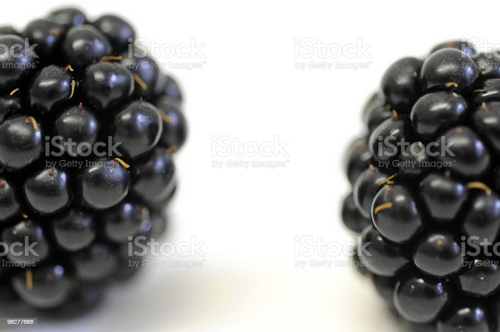detail from two blackberries royalty-free stock photo