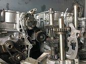 istock Detail gear engine automobile 679890338