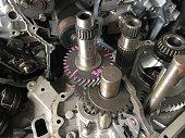 istock Detail gear engine automobile 679890450