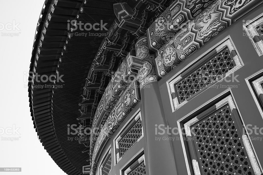 Detail Hall of Prayer for Good Harvests at Tiantan Temple royalty-free stock photo